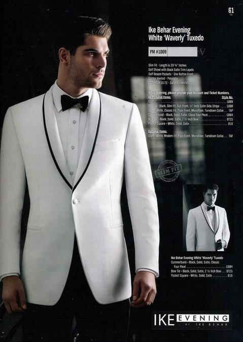 White 'Waverly' Tuxedo PM #1009