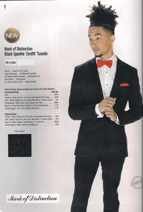 Black Sparkle 'Zenith' Tuxedo