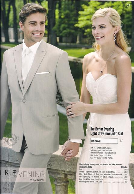 Ike Behar Evening Light Grey Grenada Suit