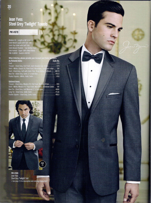 Jean Yves Steel Grey 'Twilight' Tuxedo