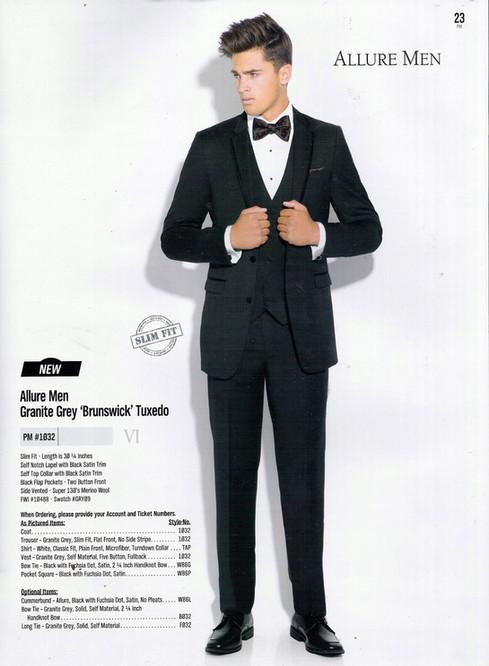 Allure Men Granite Grey 'Brunswick' Tuxedo