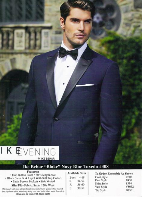 """Blake"" Navy Blue Tuxedo #308"