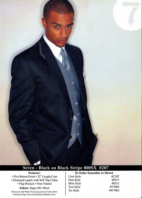 Black on Black Stripe 800SX #207