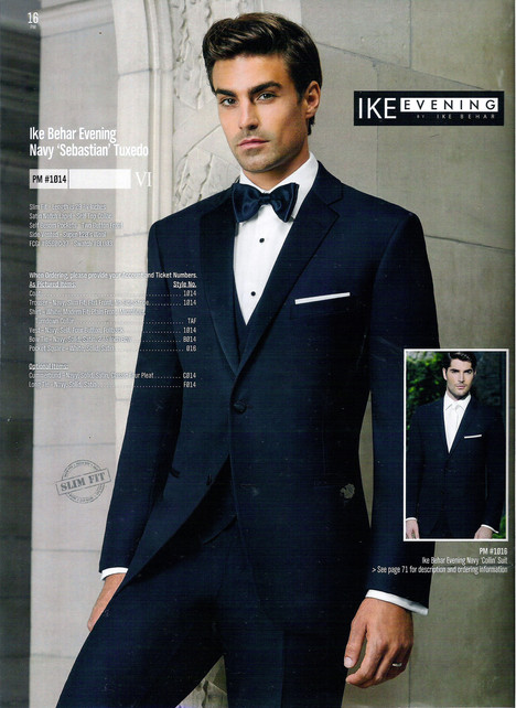 Ike Behar Evening Navy 'Sebastian' Tuxedo