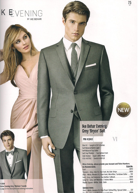 Ike Behar Evening Grey Bryce Suit