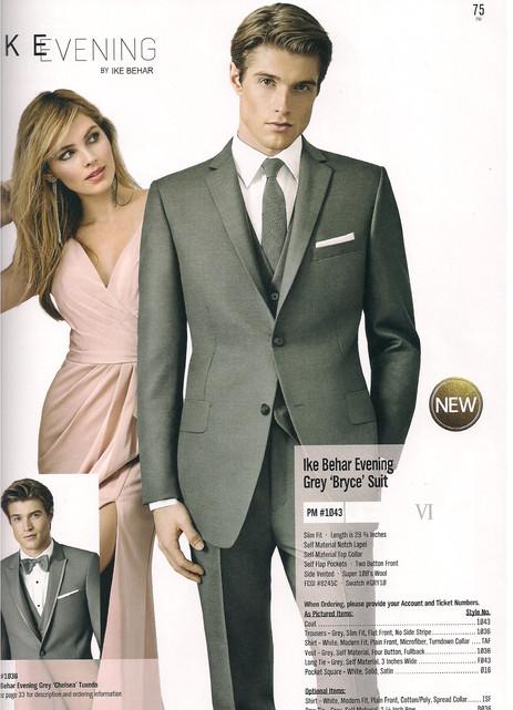 Ike Behar Evening Grey Bryce Suit