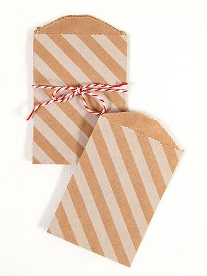 Enveloppes rayées