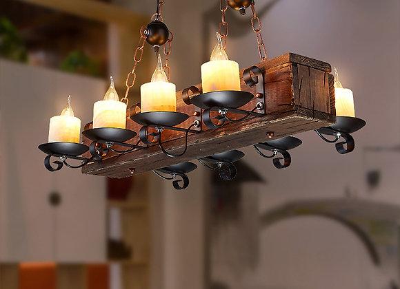 Vintage wooden lamp factory lighting chandeliers light fixtures