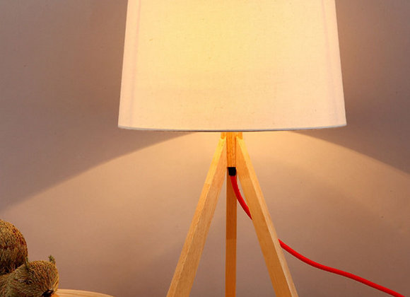 Wood modern decorative led light table lamp wooden lamps for bedside tables