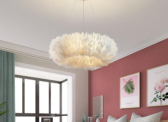 Moderne künstliche Federn Licht Eisen LED Kronleuchter Lampe