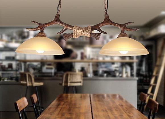 Longo pingente de iluminação resina chifre lustre lâmpada moderna zhongshan