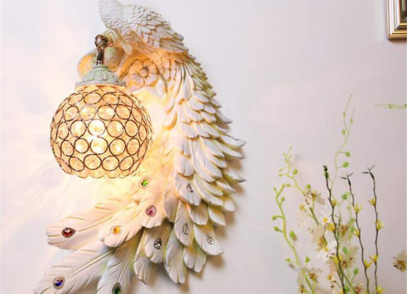 Luxurious resin gold animal wall lamp led peacock night light