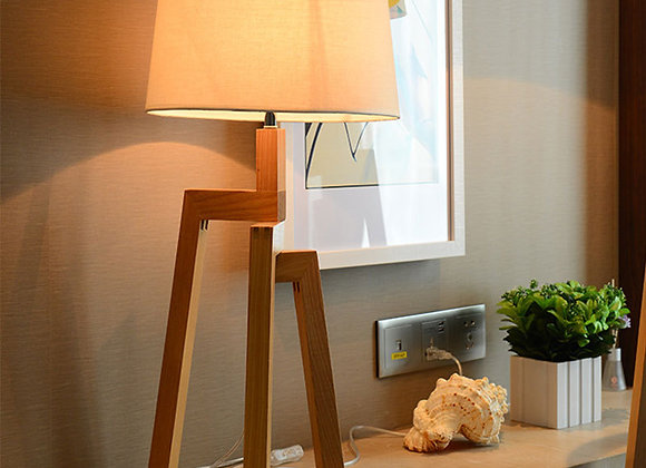 Small Bedside Table Lamp Wood Nightstand Lamp Desk Lamps for hotel room