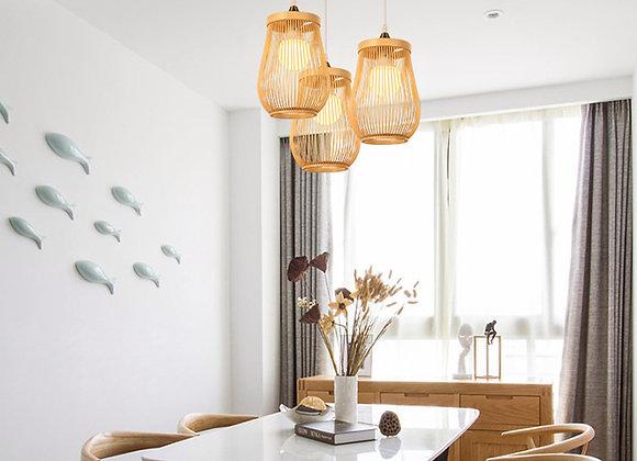 Bamboo light shades decorative hanging pendant light restaurant items
