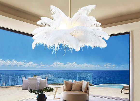 Feather light fxiture home furniture modern chandelier lamp