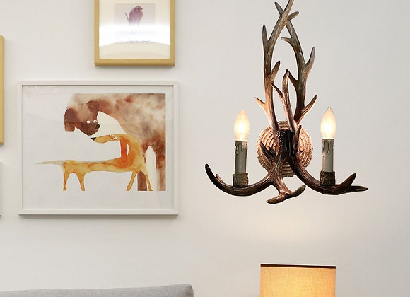 Vintage art deco wall resin lamp led lights wall antler lamp
