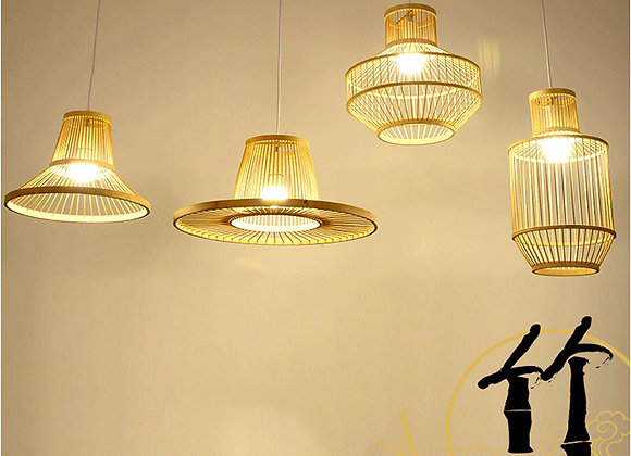 Rattan creative lamp bamboo light fixture for home decoration
