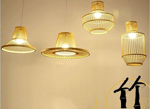مصباح الخيزران الروطان الإبداعية لاعبا اساسيا للديكور المنزلي