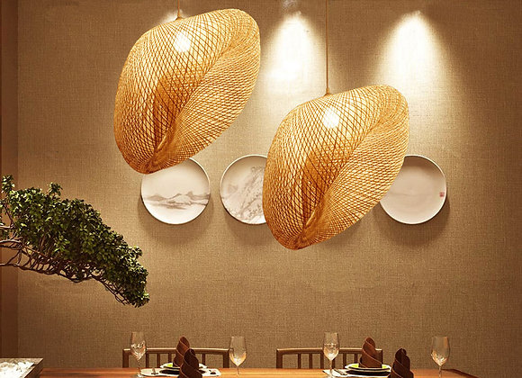Bamboo cage design lamp interior pendant light led decoration light