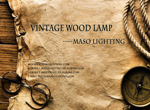 Maso Lighting Vintage Wood Lamp Catalogue and Youtube Video Show