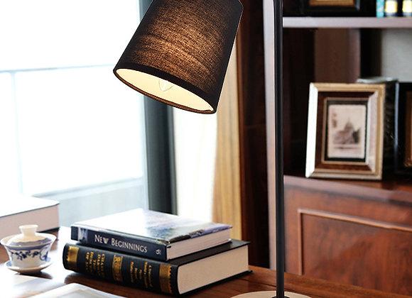 Simple wood lamp base reading led table reading light
