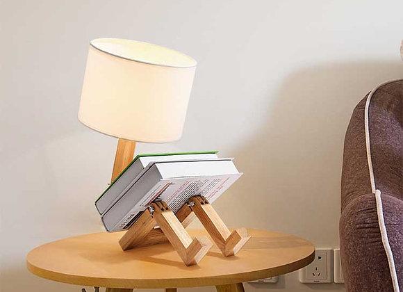 Designer-Tischlampe aus modernem Naturholz für Schlafzimmer