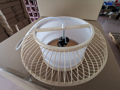 Bamboo lamp shade M0006 real pictures and introduction