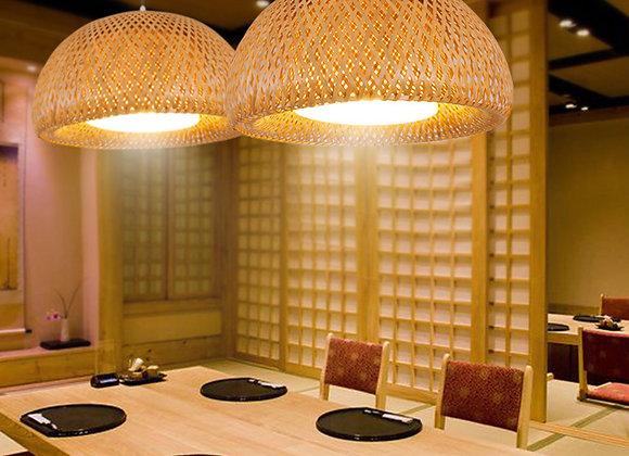 Restaurant dekorative Bambusfaser Pendelleuchte Kit Produkt