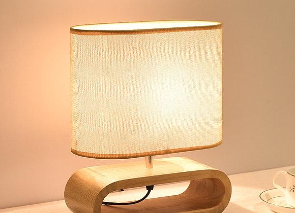 Nordic Wood E27 LED table lamp Oak design modern desk lamp for bedside decorate