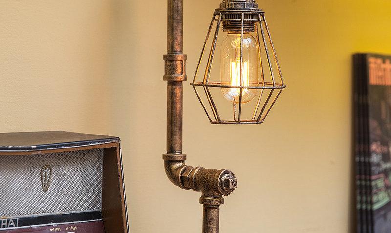 Led pipe decorative light furniture metal reading lamps