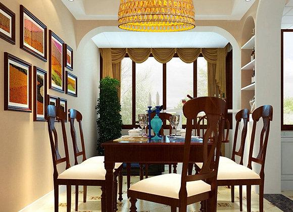 Modern dining room hanging bamboo design lamp E27 Chandelier