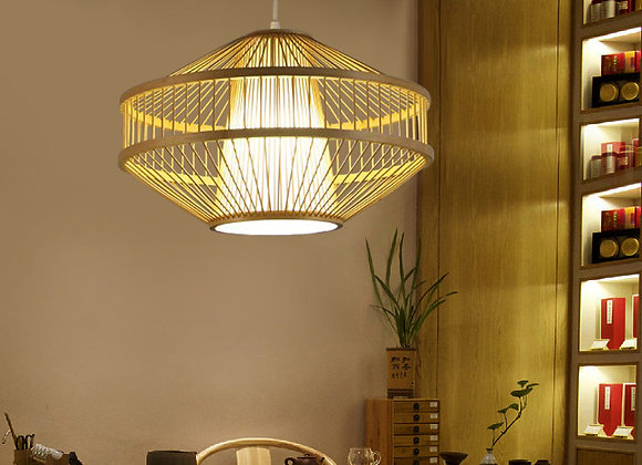 Wholesale ceiling bamboo stage lights set rattan wicker pendant lighting