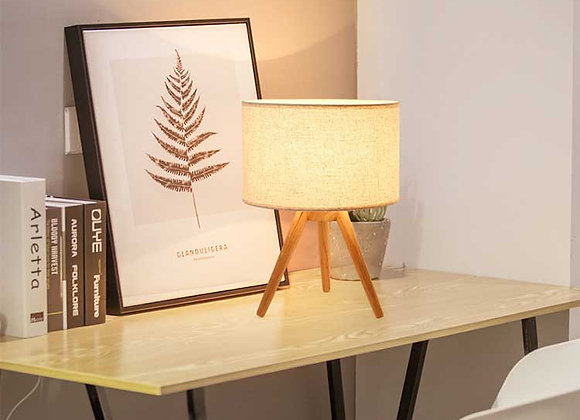 Wood Base Led Desk Lamp CE Certification and Wood Material table Lamp