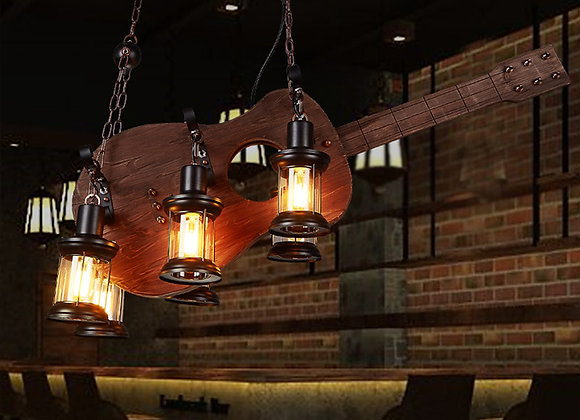 أجزاء الغيتار الخشبي الصيني الخشب قلادة مصباح حامل الإضاءة