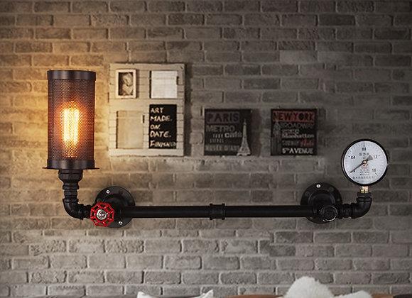 قرية أمريكية زخرفية صناعية خفيفة الجدار الشمعدان مقهى الجدار