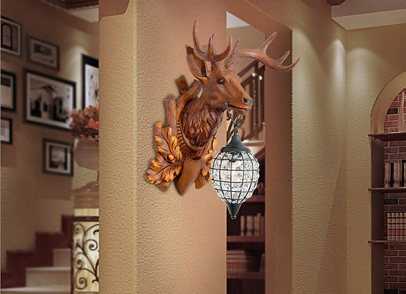 Resin animal wall mount lights for outdoor balcony decor with LED light bulb