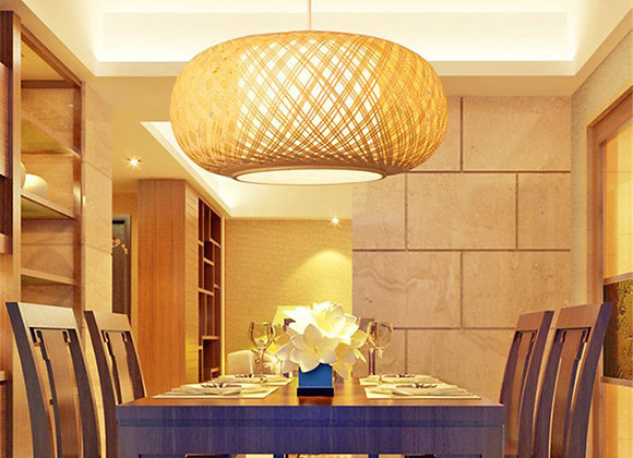 Natural bamboo pendant lamp decorative ball rattan pendant lamp