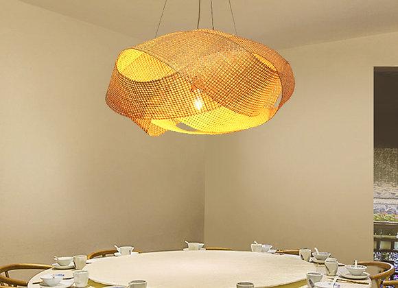Bamboo pendant lamp shade design hanging light fixture living room