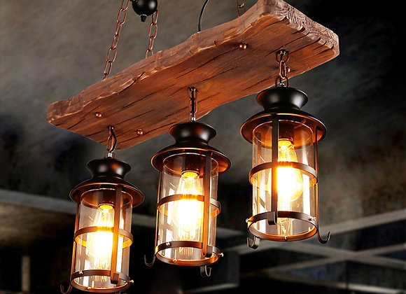 Placa de madeira Luzes de candelabro e pendente vintage pendurado luz