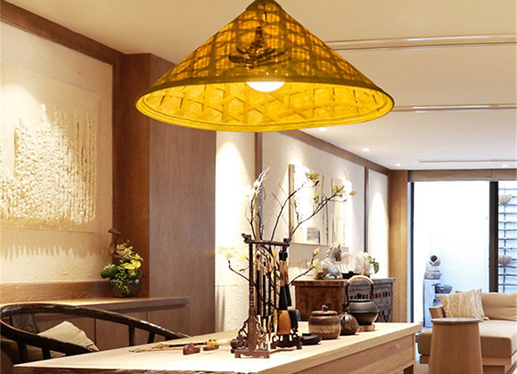 Outside decorative garden lights bamboo hat lamp wholesale products