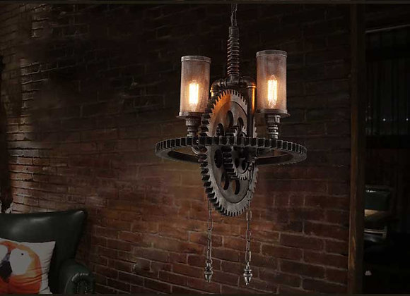 Antique iron hanging lamp industrial pipe chandelier 2020