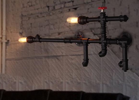 Lounge Salon Rohr Dekor Lampenschirm Vintage AK47 Pistole Lampe Wand