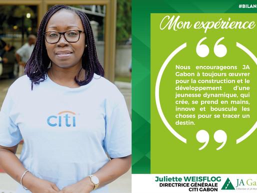 Mon expérience : Juliette WEISFLOG - Directrice Générale CITI Gabon