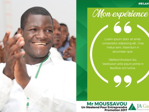 Mon expérience : Mr MOUSSAVOU - Un Weekend pour entreprendre / Promotion 2017