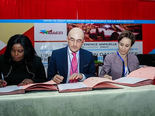 Signature de convention entre JA Gabon, ANPI et Bpifrance en faveur de l'entrepreneuriat.