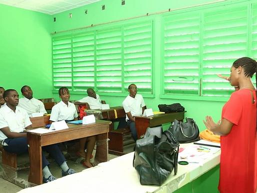 Mini-entreprise: Début des sessions de formation au Lycée National Léon MBA27 Feb 2018