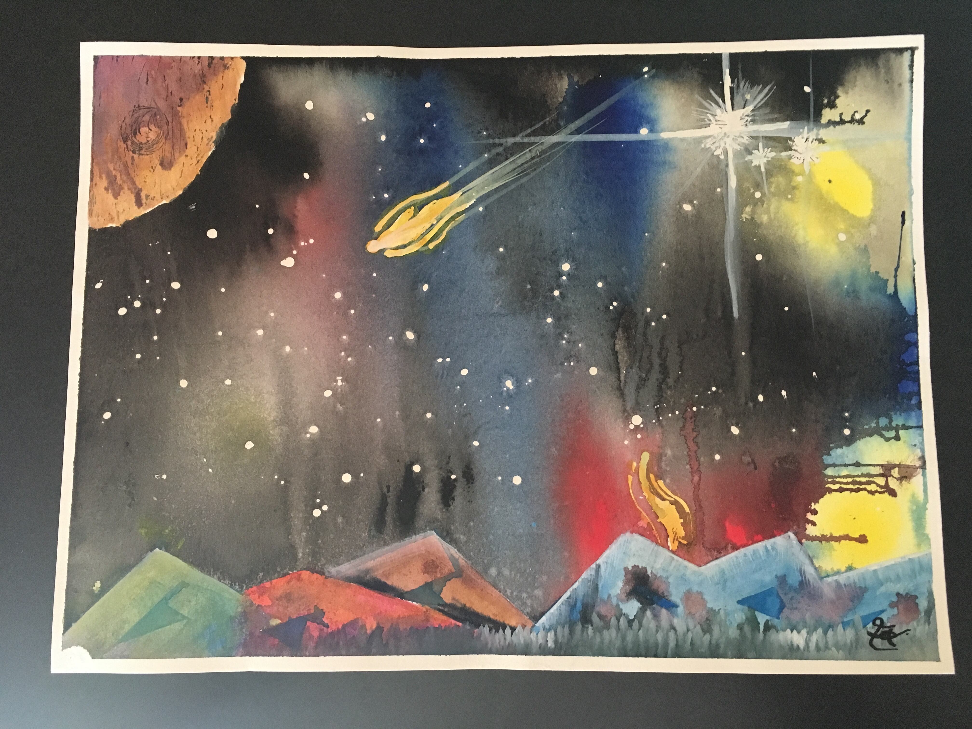 Emily's Acrylic Space Scape