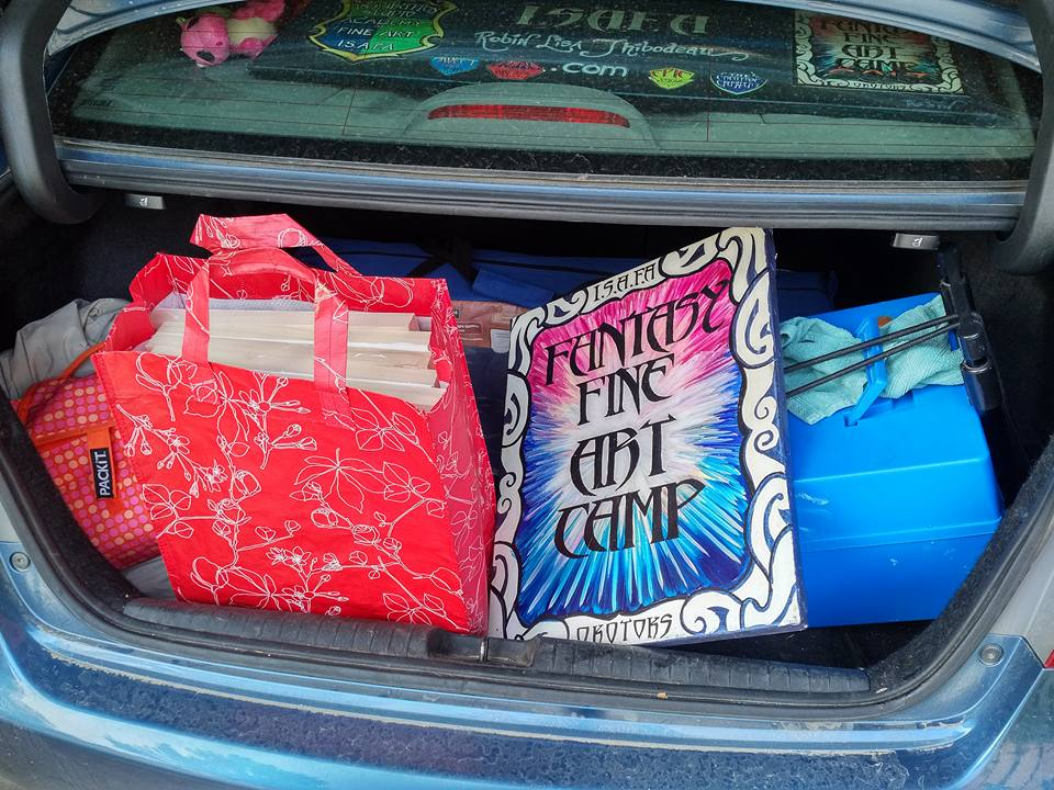 Car packed for Fieldtrip