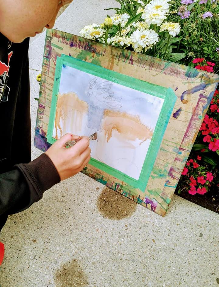 Vaugh's Art Challenge piece