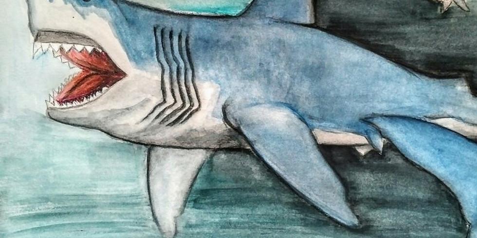 FAMILY WEEK: Watercolour Predators for Kids!
